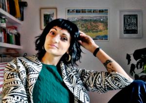 Ilaria Balestra nel suo studio